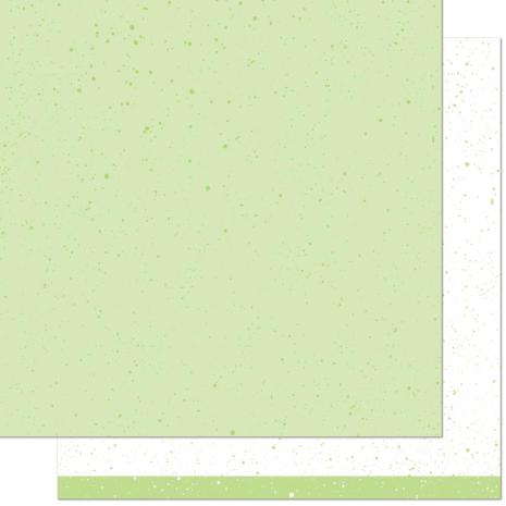 Lawn Fawn Spiffy Speckles Double-Sided Cardstock 12X12 - Pesto