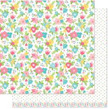 Lawn Fawn Spring Fling Double-Sided Cardstock 12X12 - Rebecca