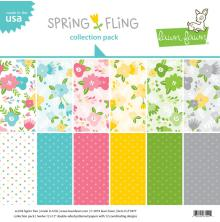 Lawn Fawn Double-Sided Collection Pack 12X12 12/Pkg - Spring Fling