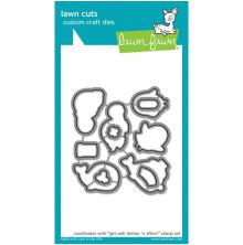 Lawn Fawn Custom Craft Die - Get Well Before n Afters