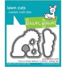 Lawn Fawn Custom Craft Die - Rain Or Shine Before n Afters