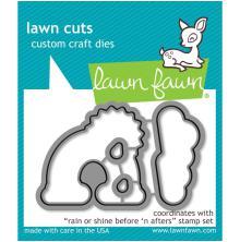 Lawn Fawn Custom Craft Die - Rain Or Shine Before n Afters