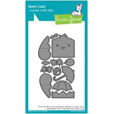 Lawn Fawn Custom Craft Die - Tiny Gift Box Chick & Duck Add-On