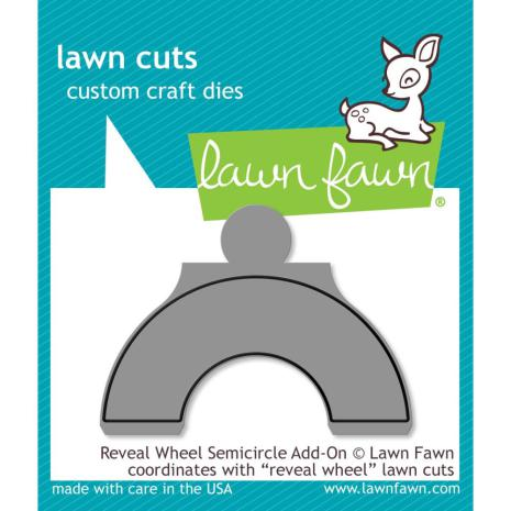 Lawn Fawn Custom Craft Die - Reveal Wheel Semicircle Add-On