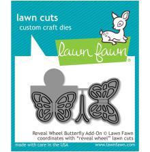 Lawn Fawn Custom Craft Die - Reveal Wheel Butterfly Add-On