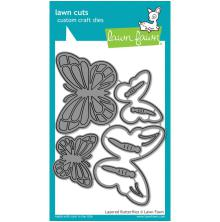 Lawn Fawn Custom Craft Die - Layered Butterflies