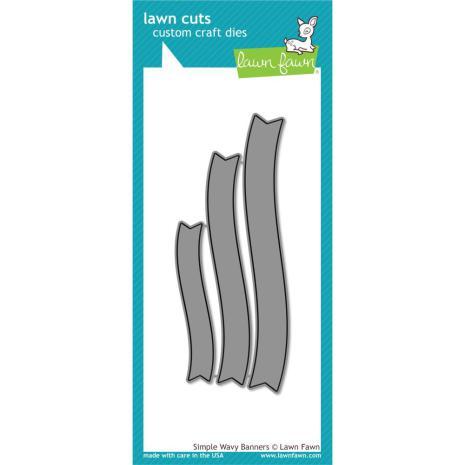 Lawn Fawn Custom Craft Die - Simple Wavy Banners