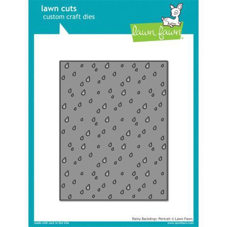 Lawn Fawn Custom Craft Die - Rainy Backdrop Portrait