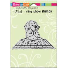 Stampendous Cling Stamp - Yoga Dog