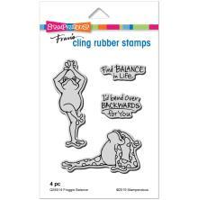 Stampendous Cling Stamp - Froggie Balance UTGÅENDE