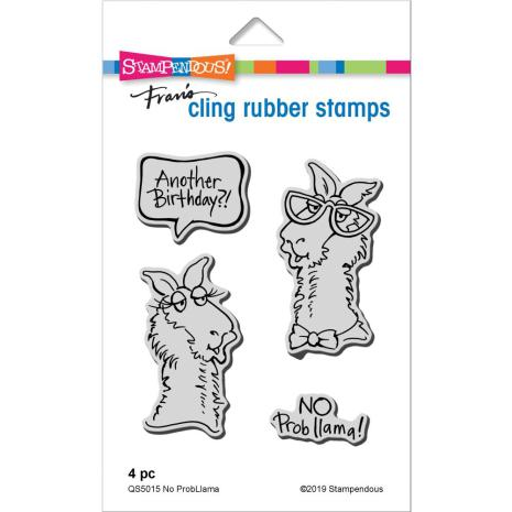 Stampendous Cling Stamp - No Probllama