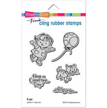 Stampendous Cling Stamp - Kitty Girl