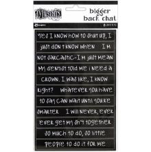 Dylusions Bigger Back Chat Stickers 8/Pkg - Black