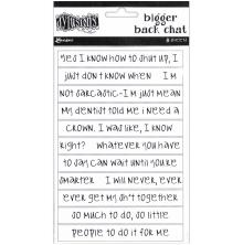 Dylusions Bigger Back Chat Stickers 8/Pkg - White
