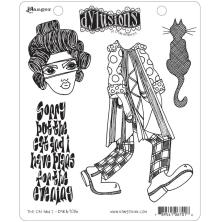 Dylusions Cling Stamps 8.5X7 - The Cat & I