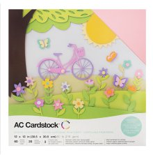 American Crafts Textured Cardstock Pack 12X12 60/Pkg - Spring