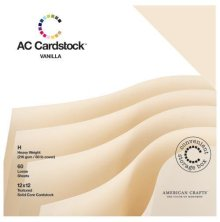 American Crafts Textured Cardstock Pack 12X12 60/Pkg - Vanilla
