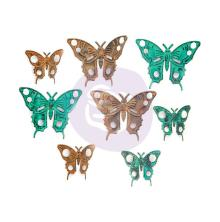 Prima Finnabair Mechanicals Metal Embellishments 8/Pkg - Scrapyard Butterflies