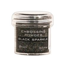 Ranger Embossing Powder - Black Sparkle Tinsel