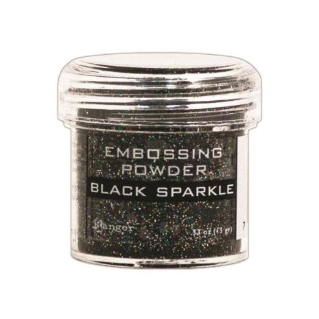 Ranger Embossing Powder - Black Sparkle Tinsel