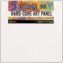 Tim Holtz Alcohol Ink Hard Core Art Panel 3/Pkg - 4X4