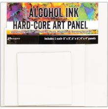 Tim Holtz Alcohol Ink Hard Core Art Panel 3/Pkg - Square