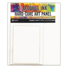 Tim Holtz Alcohol Ink Hard Core Art Panel 3/Pkg - Rectangle