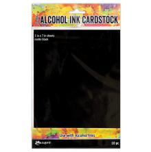 Tim Holtz Alcohol Ink Cardstock 5X7 10/Pkg - Black Matte