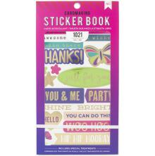 American Crafts 30 Page Stickers Book 4.75X8 - Wishes For You