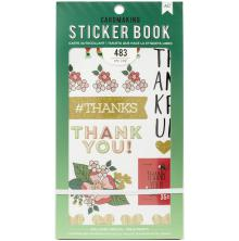 American Crafts 30 Page Stickers Book 4.75X8 - Lots Of Thanks UTGÅENDE