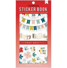 American Crafts 30 Page Stickers Book 4.75X8 - Birthday Greetings UTGÅENDE