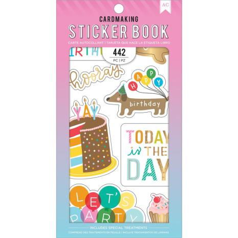 American Crafts 30 Page Stickers Book 4.75X8 - Happy Hooray
