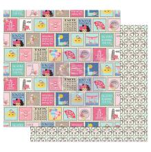 Prima Julie Nutting Traveling Girl Cardstock 12X12 - Write Me Soon UTGÅENDE