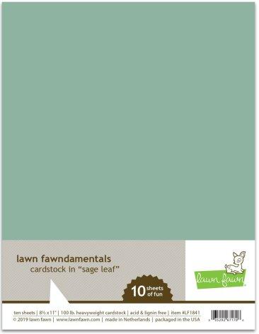 Lawn Fawn Cardstock - Sage Leaf