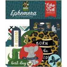 Echo Park Animal Safari Cardstock Die-Cuts 33/Pkg - Ephemera UTGÅENDE