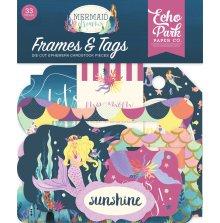 Echo Park Mermaid Dreams Cardstock Die-Cuts 33/Pkg - Frames & Tags UTGÅENDE