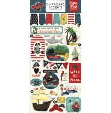 Echo Park Pirate Tales Chipboard 6x13 - Accents UTGÅENDE