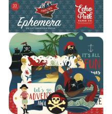 Echo Park Pirate Tales Cardstock Die-Cuts 33/Pkg - Ephemera UTGÅENDE