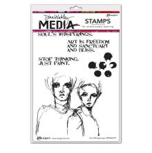 Dina Wakley Media Cling Stamps 6X9 - Soul Whisperings