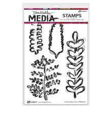 Dina Wakley Media Cling Stamps 6X9 - Scribbled Branches