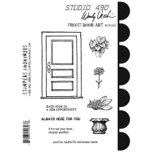 Wendy Vecchi Cling Stamps 6 1/2 x 8 3/4 - Front Door Art