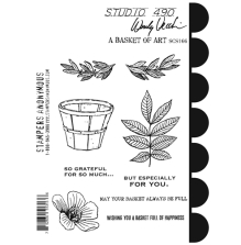 Wendy Vecchi Cling Stamps 6 1/2 x 8 3/4 - A Basket Of Art