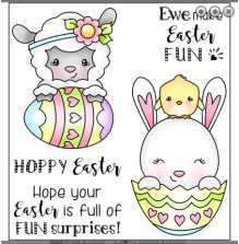 Darcies Clear Polymer Stamp Set -  Easter Surprise