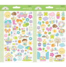 Doodlebug Mini Cardstock Stickers 2/Pkg - Simply Spring