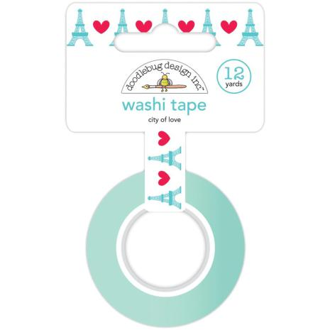 Doodlebug Washi Tape 15mmx12yd - City Of Love