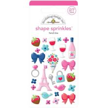 Doodlebug Sprinkles Adhesive Glossy Enamel Shapes 27/Pkg - French Kiss