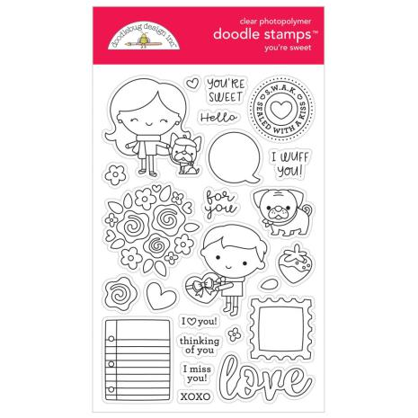 Doodlebug Clear Doodle Stamps - You are Sweet