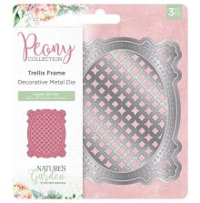 Crafters Companion Peony Collection Metal Die - Trellis Frame