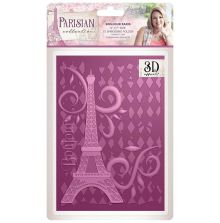 Sara Signature Parisian 3D Embossing Folder - Bonjour Paris