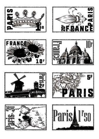 Sara Signature Parisian Acrylic Stamp - French Stamps